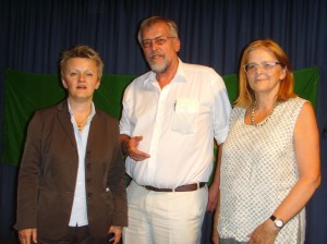 Renate Künast,  Martin Gramm, Ersi Xanthopoulos,