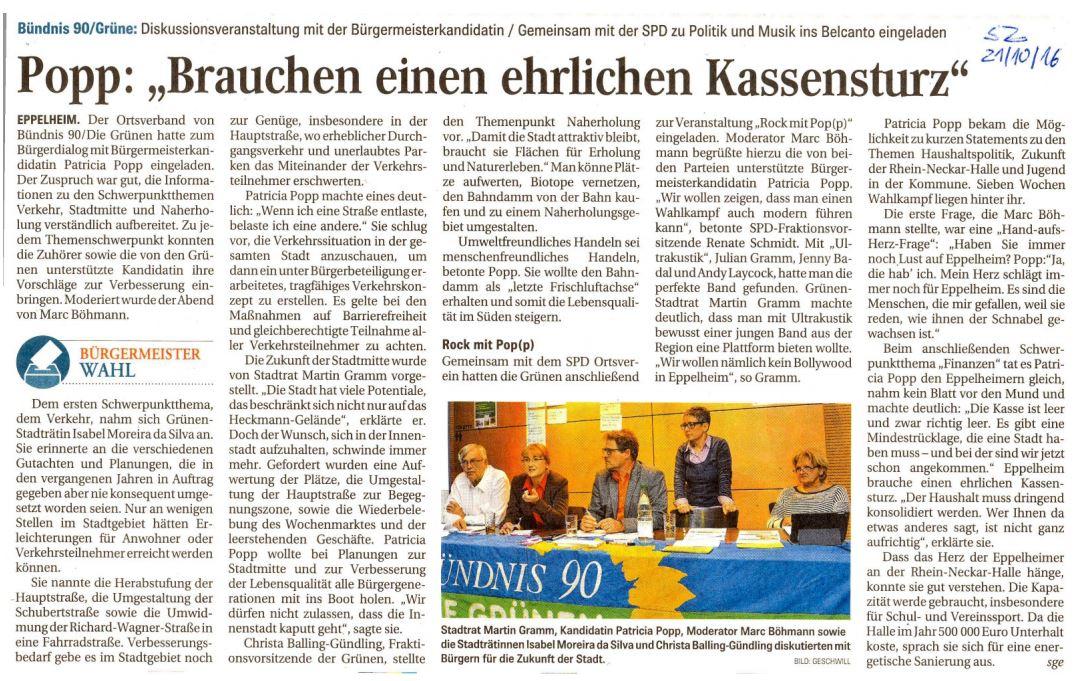 Schwetzinger Zeitung, 21.10.206