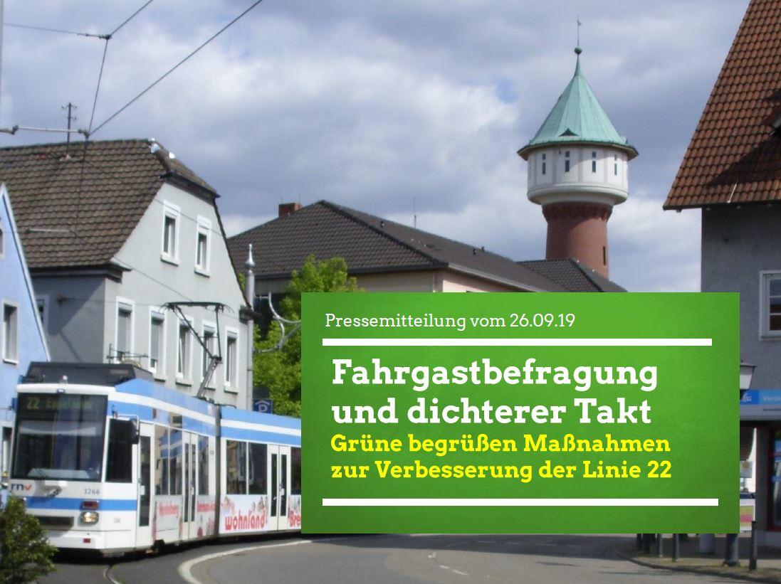 Fahrgastbefragung und dichterer Takt – Grüne begrüßen Maßnahmen zur Verbesserung der Linie 22