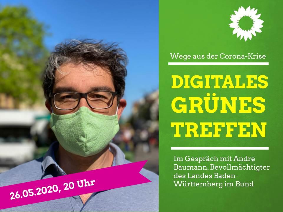 Wege aus der Corona-Krise – im Gespräch mit Andre Baumann, Bevollmächtigter des Landes Baden-Württemberg im Bund
