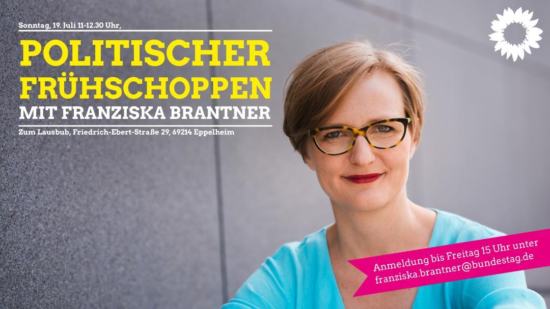 Einladung: Politischer Frühschoppen mit Franziska Brantner