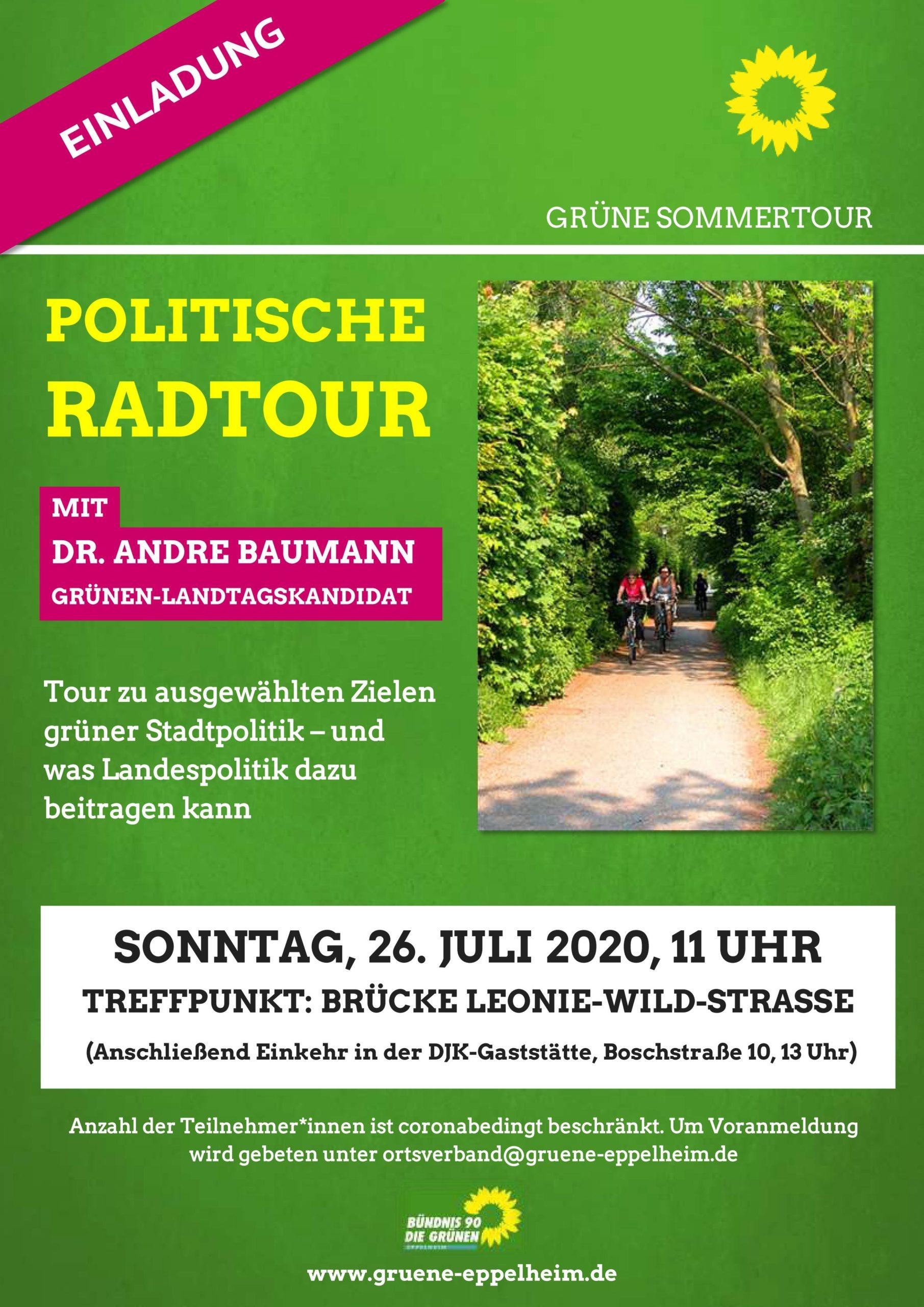 Einladung zur politischen Radtour mit Dr. Andre Baumann