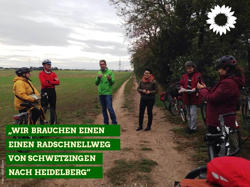 """""""Wir brauchen einen Radschnellweg von Schwetzingen nach Heidelberg"""""""