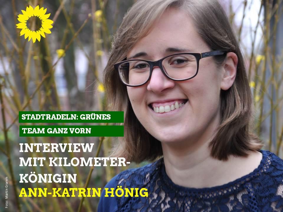 Stadtradeln: Grünes Team ganz vorne – Interview mit Kilometerkönigin Ann-Katrin Hönig