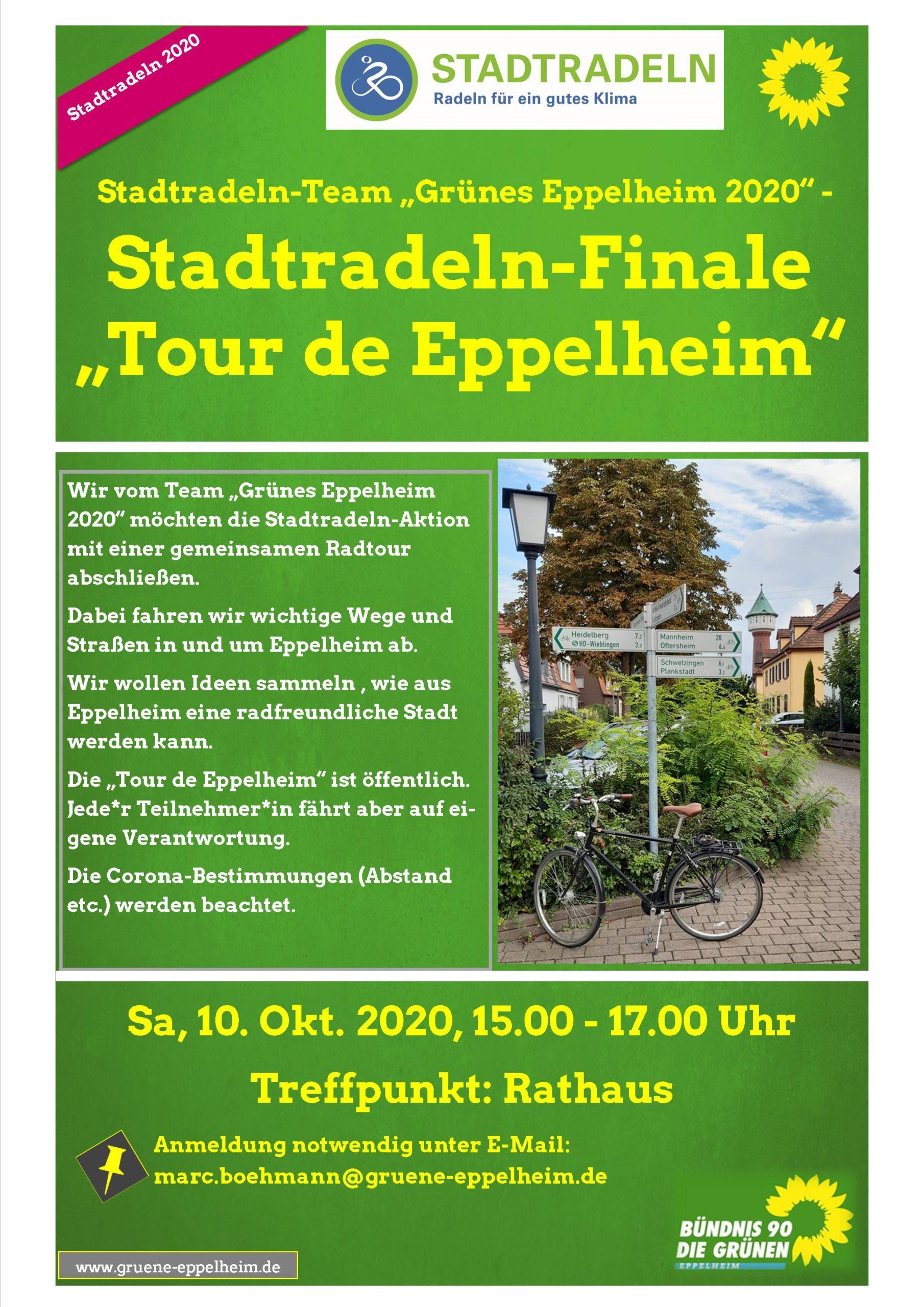 """Stadtradeln-Finale mit """"Tour de Eppelheim"""""""