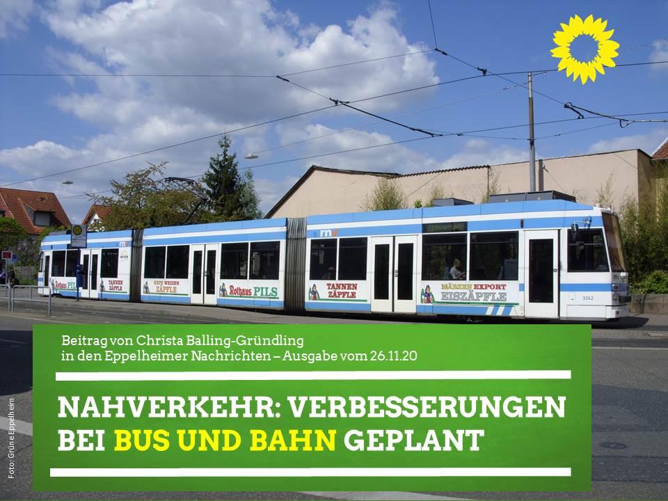 Nahverkehr: Verbesserungen bei Bus und Bahn geplant
