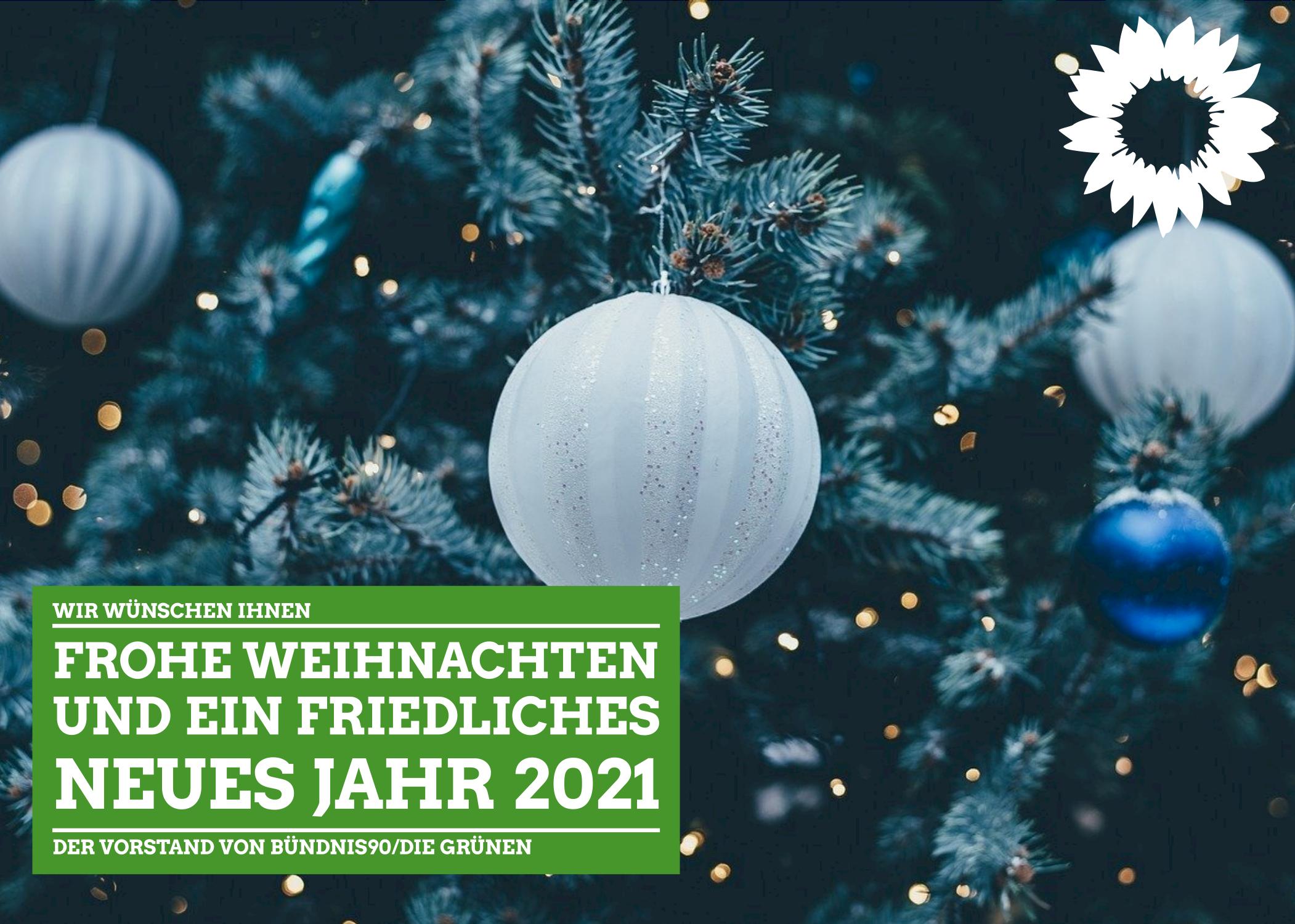 Frohe Weihnachten und ein friedliches neues Jahr 2021!